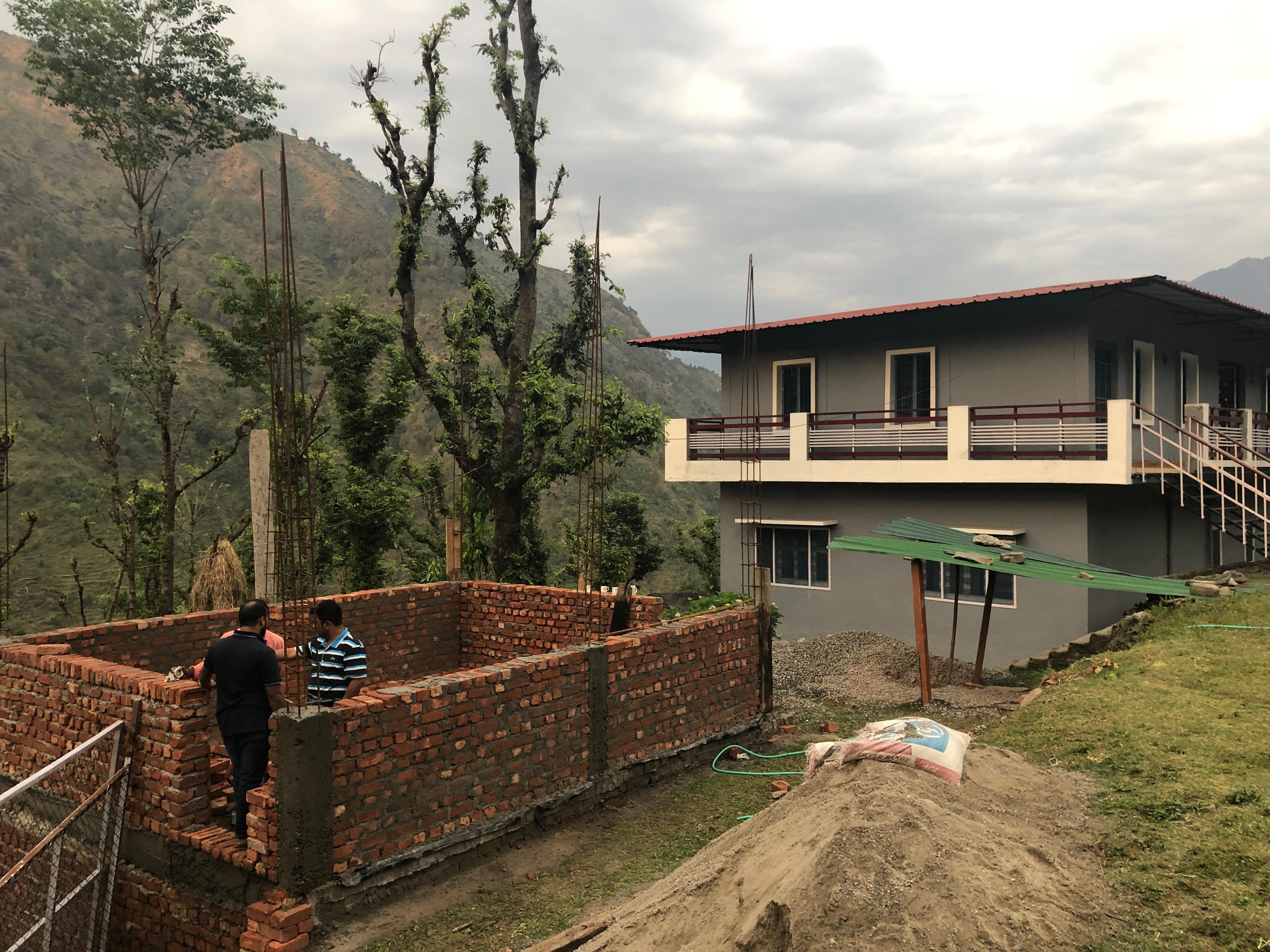 Kitchen in Bareth under construction